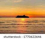 Summer Sunset At Sea On Horizo...