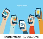 concept for mobile apps  flat... | Shutterstock .eps vector #177063098