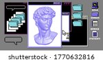 classical bust sculpture with... | Shutterstock .eps vector #1770632816