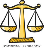 justice scale icon in color... | Shutterstock .eps vector #1770647249