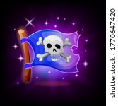 pirate flag video game icon...