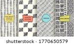 set of seamless hand drawn... | Shutterstock .eps vector #1770650579