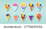 set of snow cones  shaved ice ...   Shutterstock .eps vector #1770655256