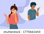 friends make cell phone call.... | Shutterstock .eps vector #1770661643