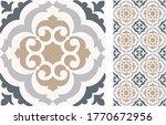 seamless azulejo tile.... | Shutterstock .eps vector #1770672956