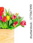 tulips in the box | Shutterstock . vector #177067490