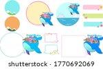 frame material set of rabbit ... | Shutterstock .eps vector #1770692069