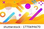 abstract orange gradient with... | Shutterstock .eps vector #1770694670