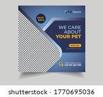 pet care social media post or...   Shutterstock .eps vector #1770695036