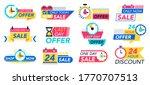 countdown badges. sale timer...   Shutterstock . vector #1770707513