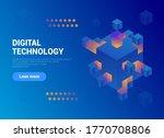 digital technology isometric... | Shutterstock .eps vector #1770708806