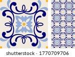 seamless azulejo tile.... | Shutterstock .eps vector #1770709706