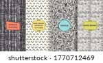 set of hand drawn texture...   Shutterstock .eps vector #1770712469