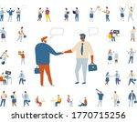 business people flat vector set ... | Shutterstock .eps vector #1770715256