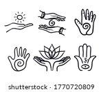 variety of healing hands set   Shutterstock .eps vector #1770720809