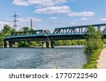 Ruhr River With Old Railroad...