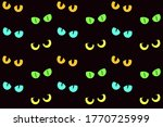 cat eyes in the darkness.... | Shutterstock .eps vector #1770725999