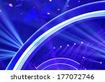 stage lighting effect in the... | Shutterstock . vector #177072746