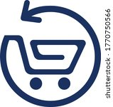 shopping cart icon or logo for...