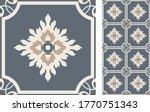 seamless azulejo tile.... | Shutterstock .eps vector #1770751343