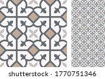seamless azulejo tile.... | Shutterstock .eps vector #1770751346