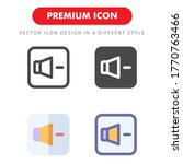 volume down icon pack isolated...
