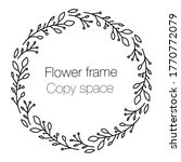 Vector Floral Wreath With...