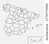 blank map of spain. provinces...