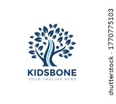kidsbone logo  creative tree ... | Shutterstock .eps vector #1770775103
