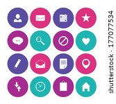 set of flat vector icons for... | Shutterstock .eps vector #177077534