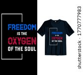 freedom is oxygen of the soul.... | Shutterstock .eps vector #1770777983