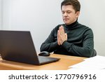 relaxed corporate man sitting...   Shutterstock . vector #1770796916