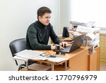 a casual businessman works in...   Shutterstock . vector #1770796979