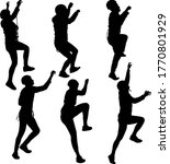 black set silhouette rock... | Shutterstock .eps vector #1770801929