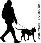 silhouette of man and dog on a... | Shutterstock .eps vector #1770802106