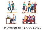 people relaxing  working out  ... | Shutterstock .eps vector #1770811499