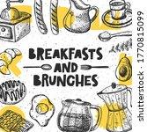 breakfast and brunches hand... | Shutterstock .eps vector #1770815099