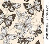 fashion vector seamless pattern ... | Shutterstock .eps vector #177081644