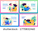 set 2d flat on the topic of...   Shutterstock .eps vector #1770832460