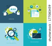 set of flat design concept... | Shutterstock .eps vector #177083459