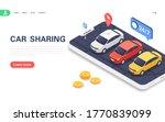 car sharing concept banner....   Shutterstock .eps vector #1770839099