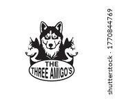 Three Dog Logo Amigo Template