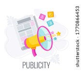 publicity infographics icon.... | Shutterstock .eps vector #1770866453