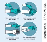 how to remove glove safely... | Shutterstock .eps vector #1770893756