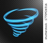 Abstract Blue Tornado Line Of...