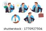 business men workers succeeding ...   Shutterstock .eps vector #1770927506