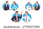 business men  woman workers... | Shutterstock .eps vector #1770927590