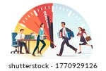 business people running against ... | Shutterstock .eps vector #1770929126
