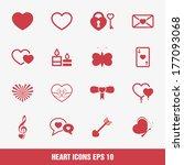 heart icons  vector.   Shutterstock .eps vector #177093068