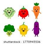 funny cute vegetable's... | Shutterstock .eps vector #1770945536